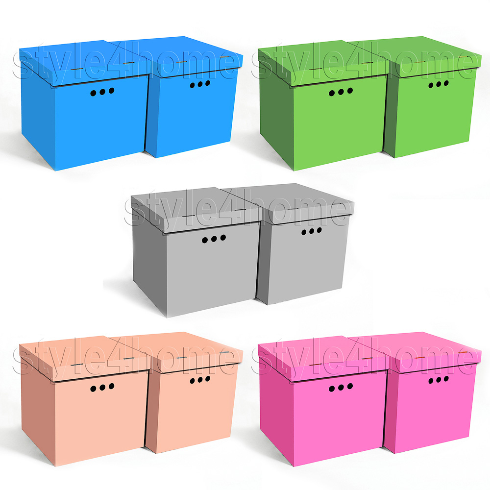 Decorative Storage Boxes Uk : Stylish pcs decorative storage boxes ikea home office